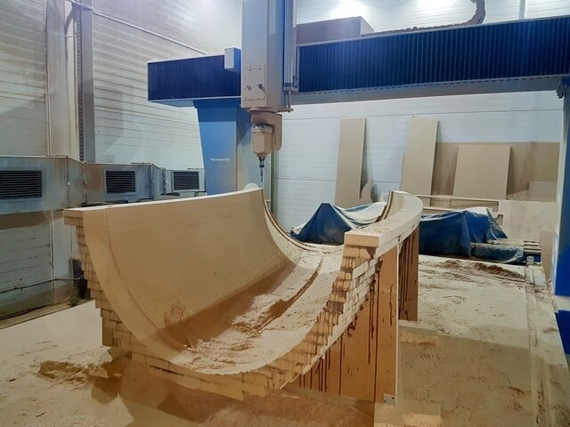CNC Modell aus MDF, Halbrohr