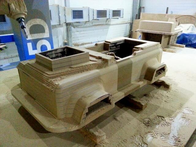 CNC Modell aus MDF für Karosserie