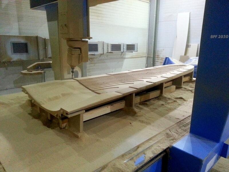 CNC Modell aus MDF, Rotoblatt