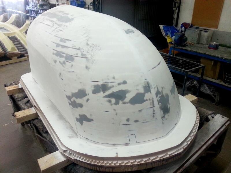 CNC Modell aus MDF, grundiert, Windgondel