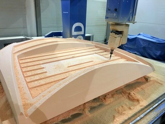 CNC Modell aus Hartschaum PU