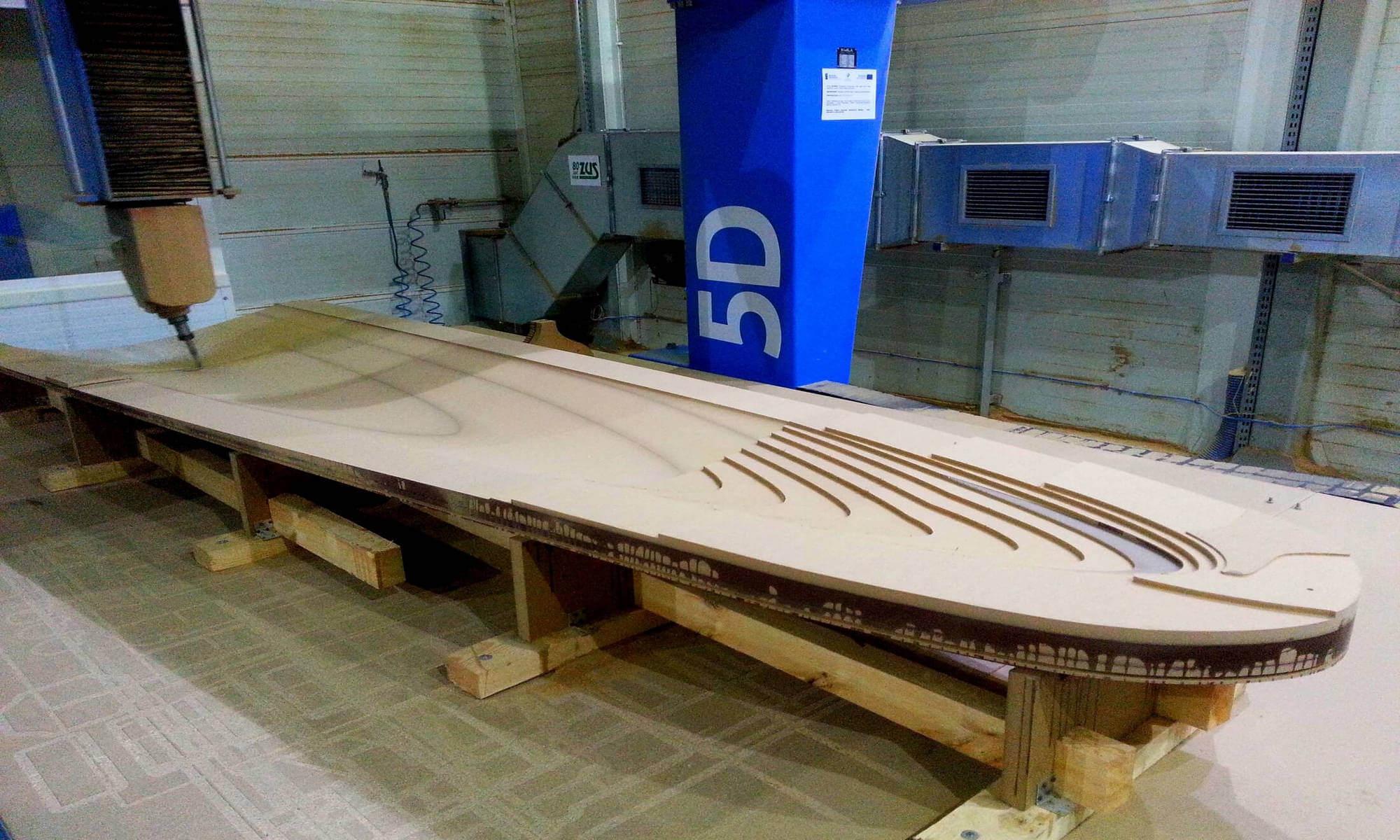 CNC Modell gefräst aus MDF