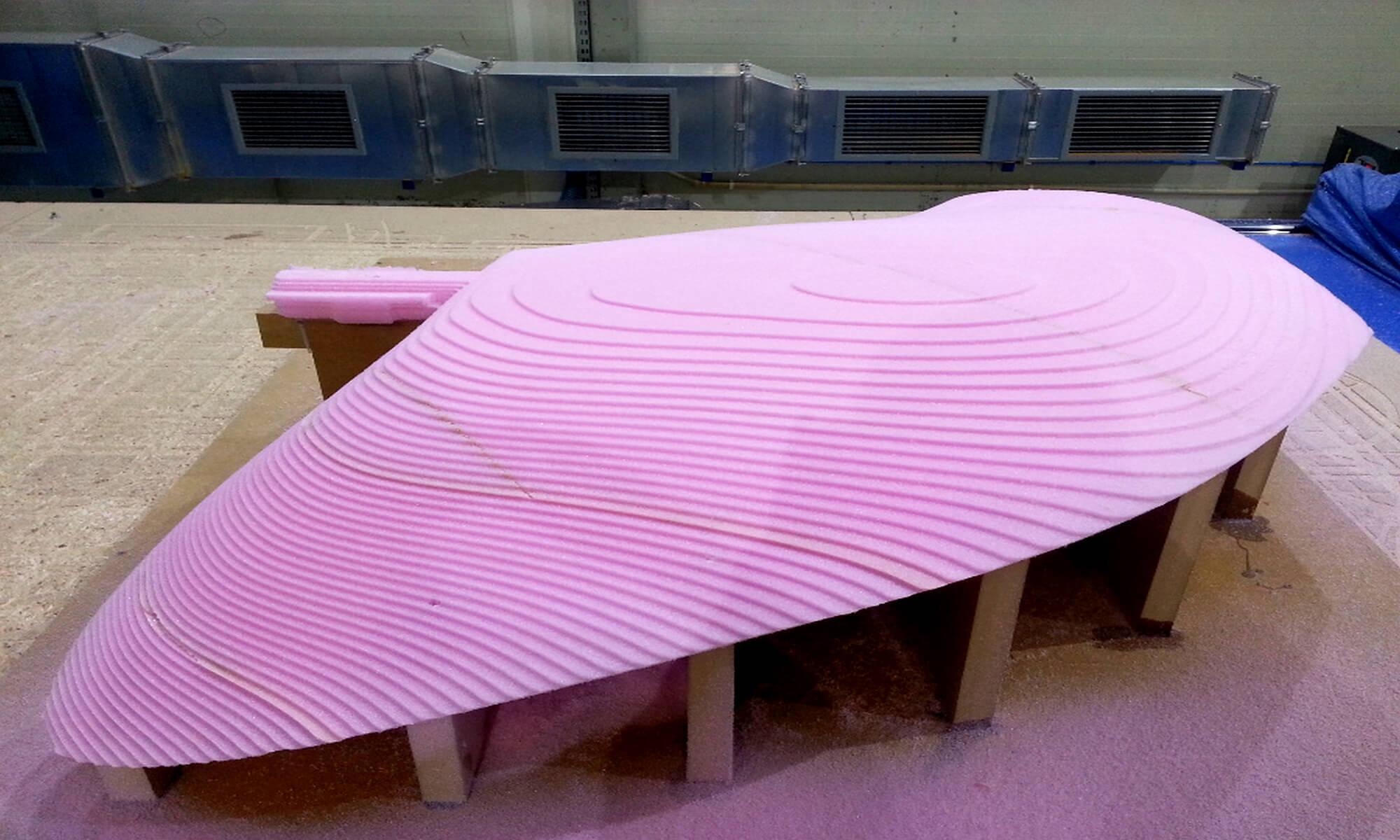 CNC Modelle aus Hartschaum